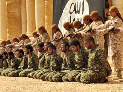 De islam is een doodnormale religie met kinderen die al zingend een massa-executie uitvoeren.