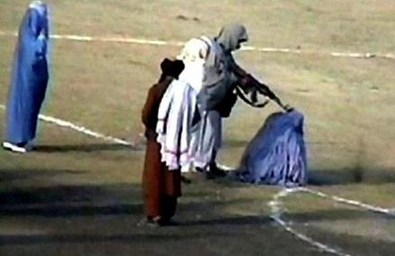 boerka executie parkeerplaats Kaboel