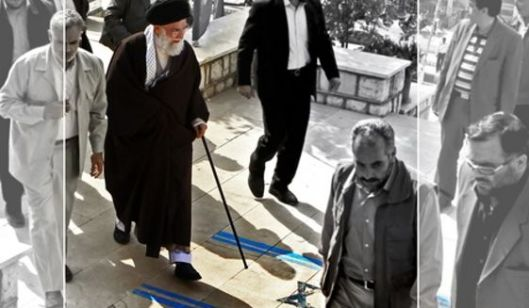 Khamenei himself tramples on the Israeli flag. Iran celebrates  yearly a special hate-Israel-day (Al-Quds-day) and a special hate-America-day