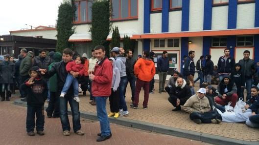 Asielzoekers in het Drentse dorp Oranje