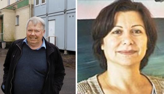 Het grootste particuliere bedrijf die asiel-accommodaties runt is eigendom van Bert Karlsson (links). In 2015 heeft zijn bedrijf de Zweedse belastingbetalers $23.9 miljoen gekost. Zijn accommodaties vragen de asielzoekers zichzelf te voorzien van toiletpapier, toiletdoekjes en luiers. Wafa Issa (rechts) is het hoofd van het Migratiebureau in de regio van Stockholm. Zij is tevens leider van een particulier bedrijf dat betaald wordt om onbegeleide vluchtelingenkinderen te voorzien van pleeggezinnen.