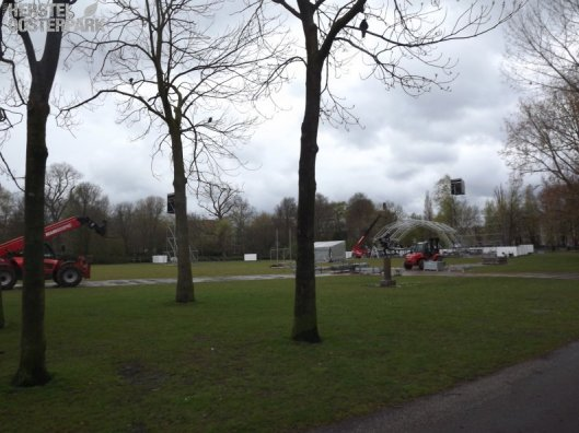 Oosterpark opbouw staketsels 2