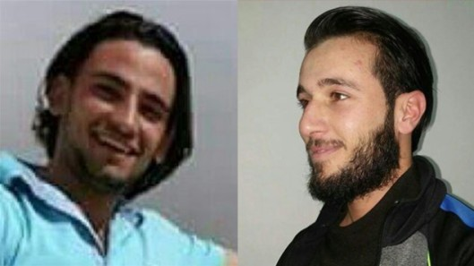 De neven Khalid Muhamra (links) en Muhammad Muhamra (rechts) op het pad van de terreur: van Yatta tot Tel Aviv [beeldbron: The Times of Israel]