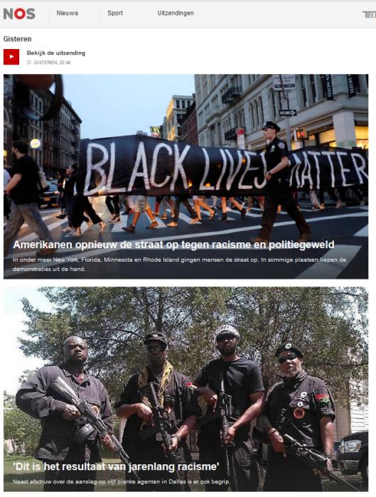 NIEUWSUUR BLACK LIVES MATTER