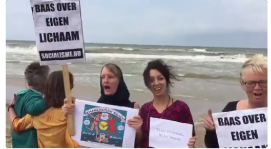 Recente SP-demonstratie aan Nederlands strand
