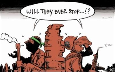 Een eminent stompzinnige cartoon bij een goed artikel