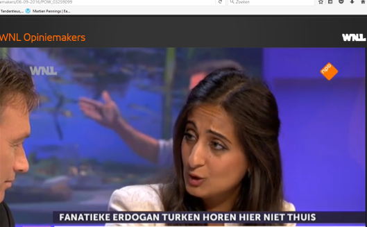 Songül Mutluer: nee, ze heeft geem laag voorhoofd. Dat is het niet. Het is gewoon vertekening door haar sterke mimiek.