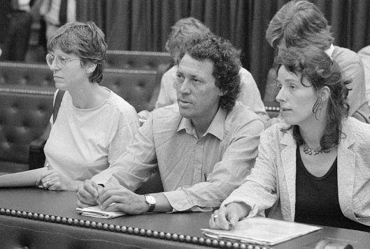 vlnr Evelien Eshuis, Gijs Schreuders en Ina Brouwer vormden ooit de Tweede-Kamer-fractie van de CPN