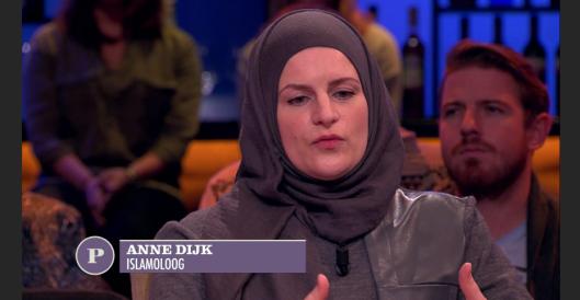 Anne van Dijk, een gevaarlijke krankzinnige, dan wel eminent dom en ongeïnformeerd. En dat mogen we van een academische islamologe toch niet aannemen, niet waar? Dan is ze dus gestoord.