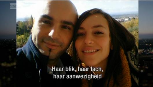 Mohammed El Bachiri met zijn vrouw Loubna die omkwam bij de aanslagen in Brussel op 22 maart 2016