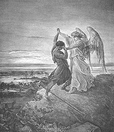Jacob vecht met de engel
