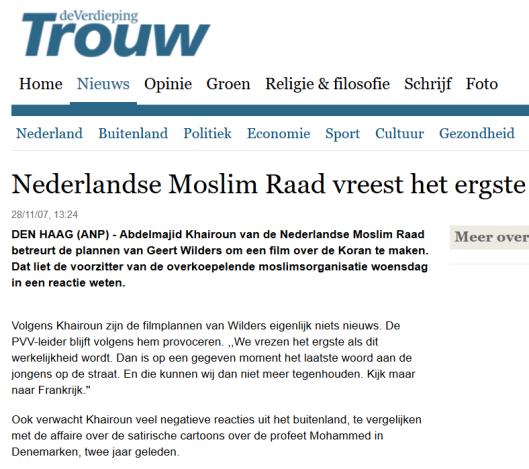 trouw-moslimraad-vreest-ergste