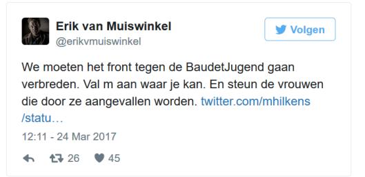 MUISWINKEL ERIK VAN TWEET BAUDET