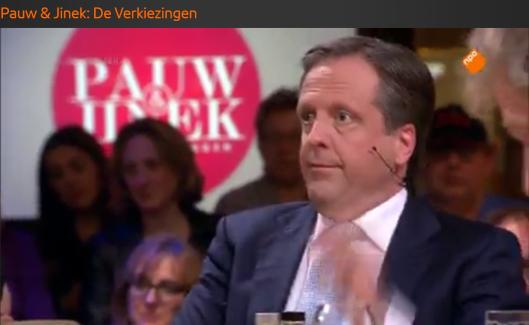 Pechtold leunt met zelfvoldane blik achterover na zijn hypokriete tirade tegen Jan Roos