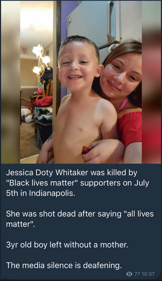 BLM MOTHR OF 3 YEAR OLD SHOT AFTER SAYING ALM